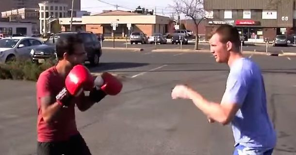 He Challenged People On The Street To Punch Him In The Face And They Could Barely Touch Him
